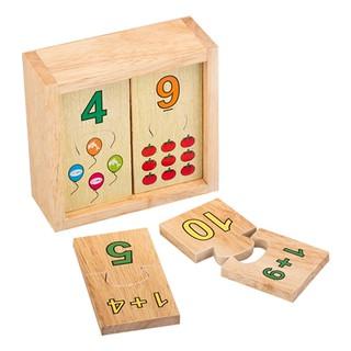 Đồ chơi gỗ – Bộ ghép hình học số Winwintoys