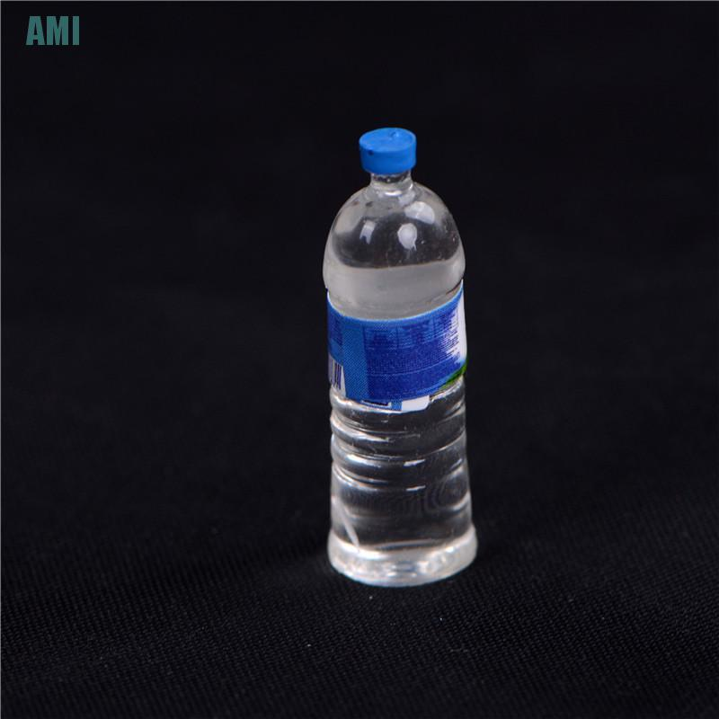 [D] 4Pcs Dollhouse Miniature Bottled Mineral Water 1/6 1/12 Scale Model Home Decor (ghg)