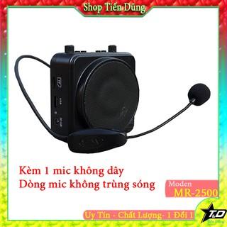 MÁY TRỢ GIẢNG AKER MR2500 MICRO không dây tiếng siêu lớn mic không trùng sóng nhau