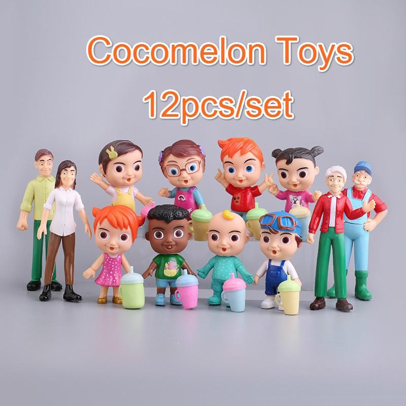 Set 12 Mô Hình Đồ Chơi Các Nhân Vật Cocomon Trong Phim Hoạt Hình Cocomon