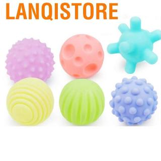 Lanqistore 6Pcs Multi-Touch Textured Senses Touching Training Child Soft Hand Ball Baby Toy