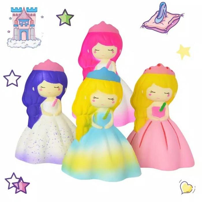 Đồ chơi mềm dẻo giảm stress hình dáng công chúa xinh xắn