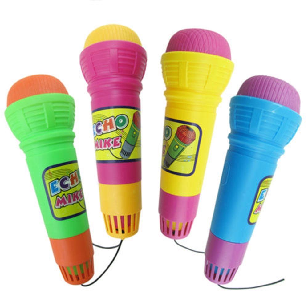 Random Color Baby Funny Cristal Plastic Kids Simulation Echo Microphone
