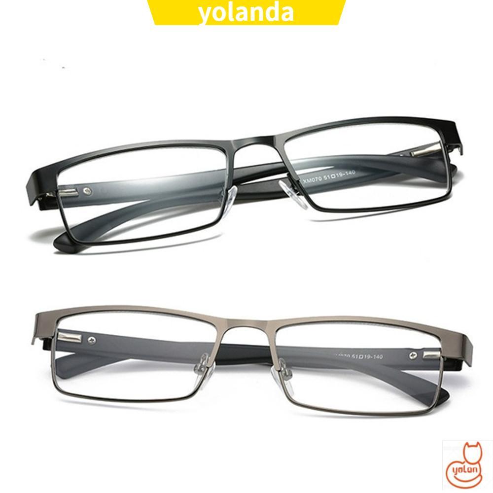 ☆YOLA☆ Men Eyeglasses Flexible Portable Vision Care Business Reading Glasses Ultra Light Resin New Fashion Metal Titanium Alloy Eye wear...