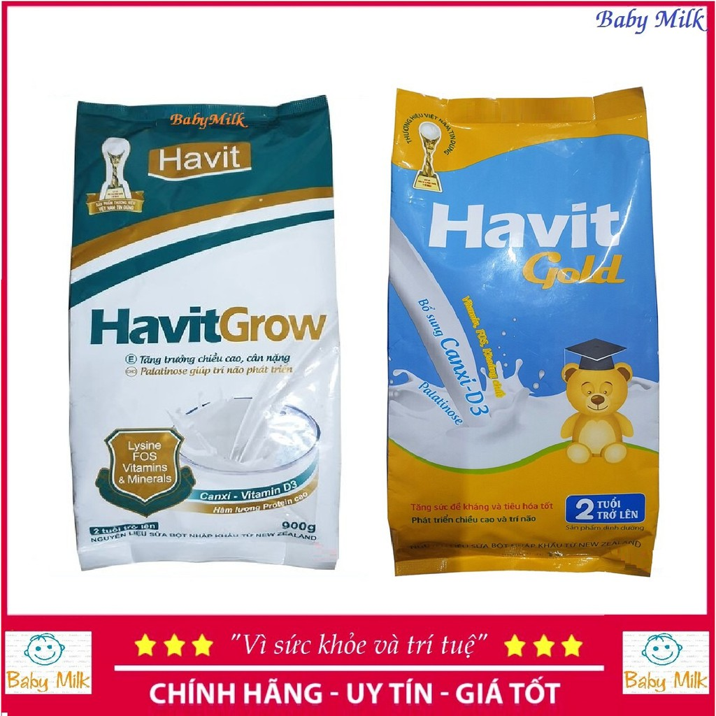 Sữa túi Havit grow (900g), Havit gold (1kg)