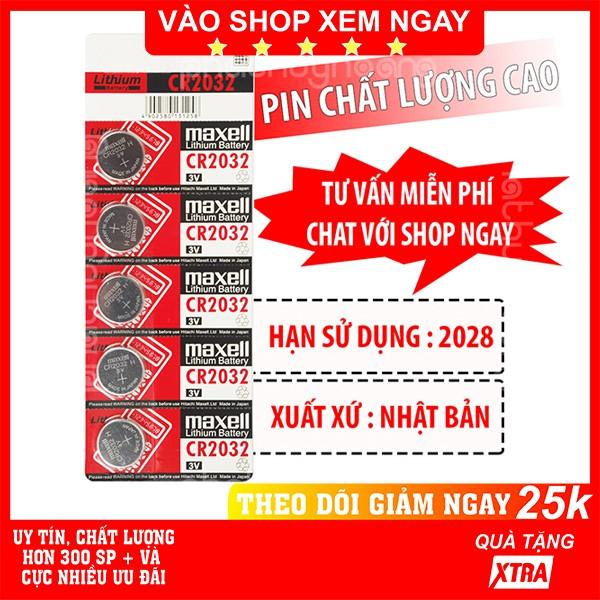Pin Cr2032 Maxell✅FREESHIP🚛Có video thật🎥Pin Cr2032 Maxell NHẬT BẢN ✓Chính hãng ✓Chất lượng cao - Phát Huy Hoàng