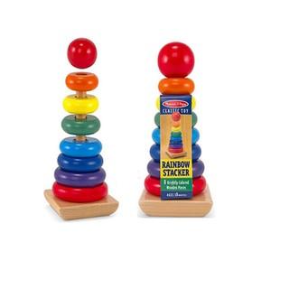 [ HOT DEAL ] Tháp cầu vồng gỗ – ghép hình thông minh – Đồ chơi giáo dục gỗ an toàn