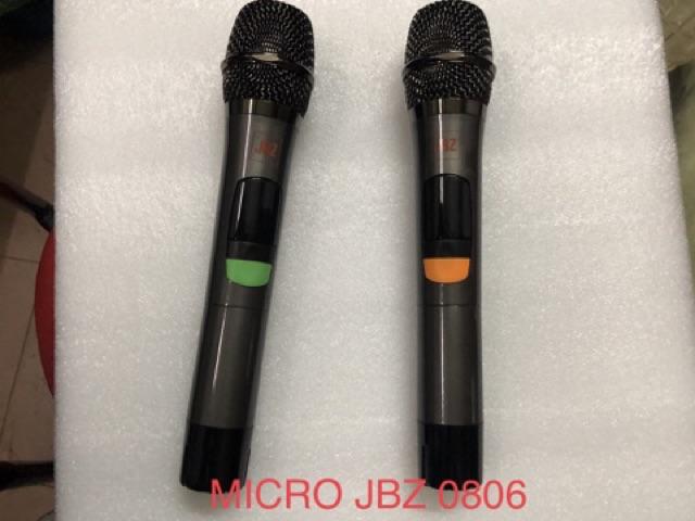 [Freeship toàn quốc từ 50k] Loa kéo mini JBZ JB-0806, loa karaoke 2.2 tấc kèm 2 mic