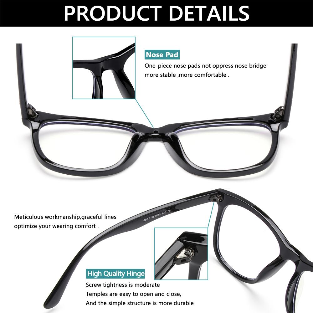 CLEVER Unisex Office Computer Glasses Anti Glare Video Gaming Glasses Blue Light Blocking Glasses Goggles Anti Blue Light Flexible Anti...