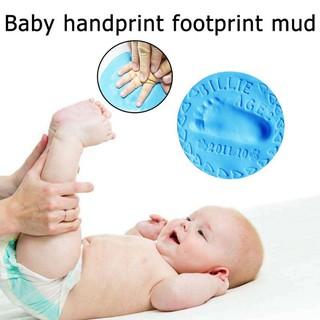 1pcs baby footprint dry air soft clay infant souvenir footprint mud 20g