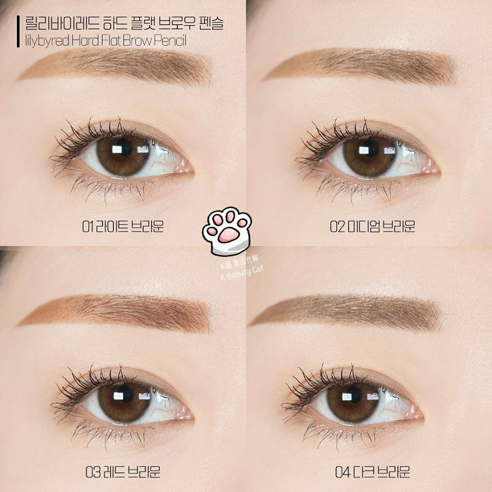Image result for Chì Kẻ Lông Mày Lilybyred Hard Flat Brow Pencil