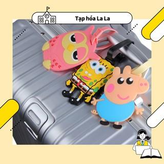 Thẻ tag hành lý silicon tạo hình nhân vật đáng yêu thumbnail