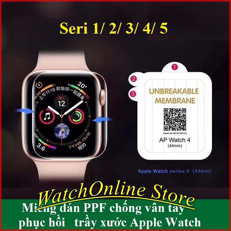 Dán PPF bảo vệ màn hình Apple Watch