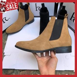 Giày Chelsea Boots nam SN05 cao cổ da lộn đế cao cá tính năng động trẻ trung thumbnail