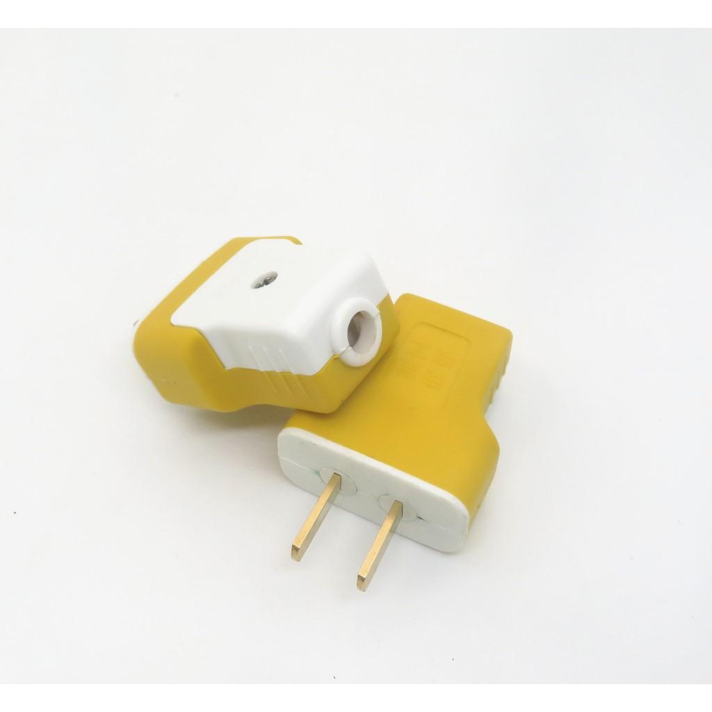 Phích cắm 2 chân dẹt bằng đồng sz13, ổ cắm điện chịu tải tới 250v-16A - Ổ  cắm điện