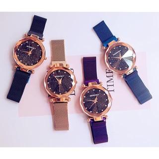 ( Giá Sỉ ) Đồng hồ thời trang nữ GoGoey dây lưới khóa nam châm SXC876