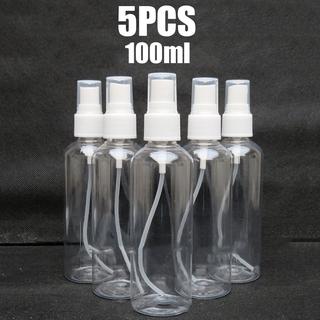 Set 5 Chai Nhựa Rỗng 100ml Dùng Chiết Mỹ Phẩm Khi Đi Du Lịch