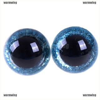 【WMW】16/18/20/24mm Shinning Plastic Doll Eyes Craft Eyes DIY For Plush Bear Stuf