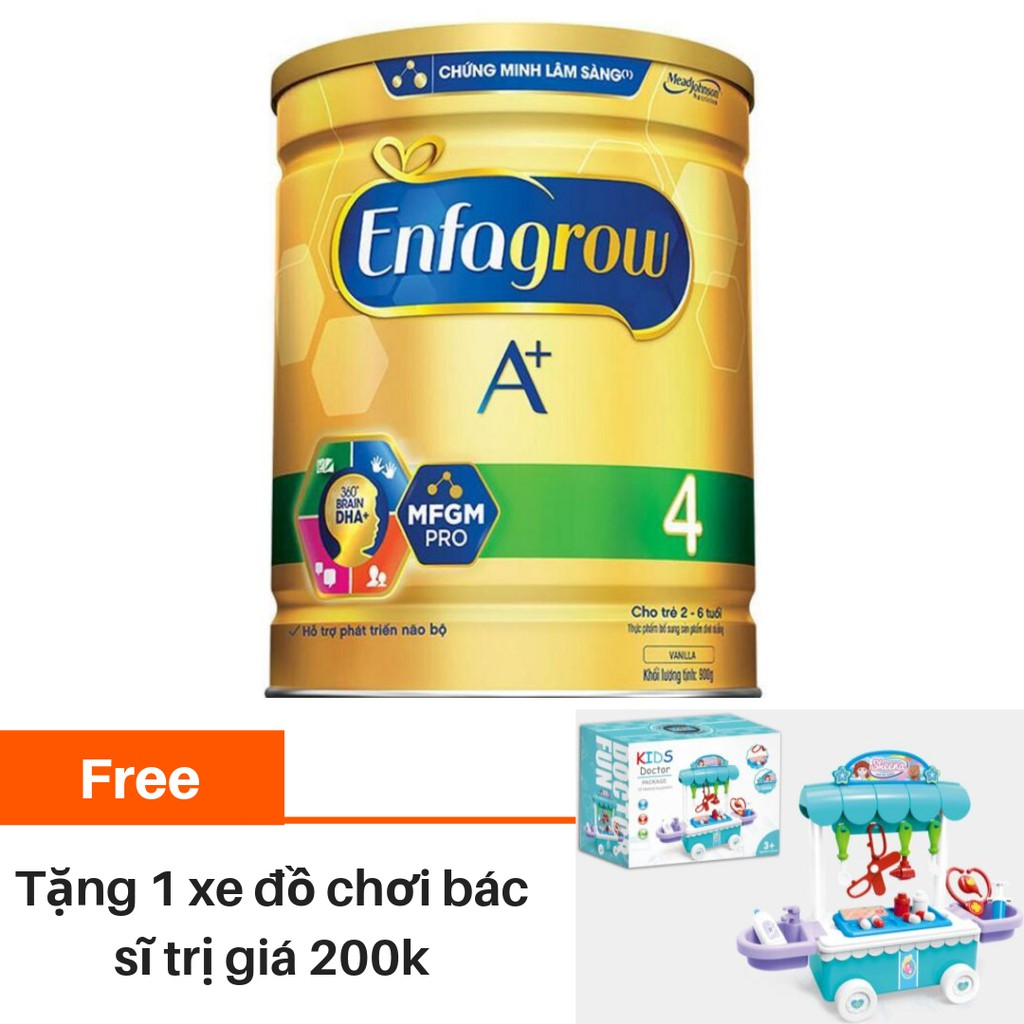 [Tặng xe đồ chơi bác sĩ] Sữa bột Enfagrow A + 4 1750g