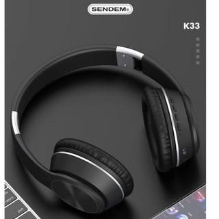 [Mã ELFLASH5 giảm 20K đơn 50K] Tai Nghe Chụp Tai Bluetooth 5.0 SENDEM K33 - Âm Thanh Cực Đỉnh - Hỗ Trợ Thẻ Nhớ