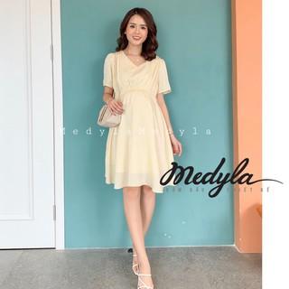 Váy bầu mùa hè - Đầm bầu công sở thiết kế Medyla - V195 thumbnail