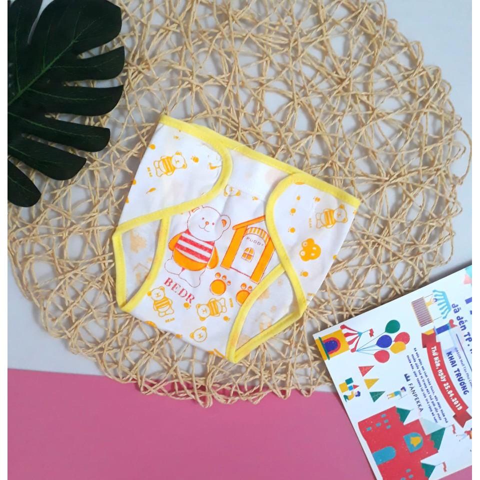 Set 5 chiếc tã dán vải cho bé sơ sinh, mẫu họa tiết. tã dán