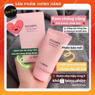 [VỢT SALE AUTH] KEM CHỐNG NẮNG THE SAEM ECO EARTH POWER PINK SUN CREAM