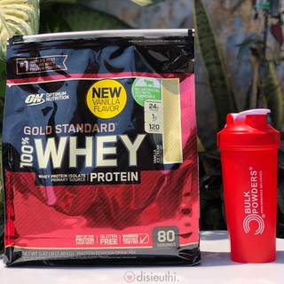 Whey Protein Isolate Bột Tăng Cơ Whey Protein Whey On Optimum Nutrition Gold Standard 100% 80 Vị Vanilla kèm Bình Lắc thumbnail