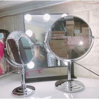 [Có sẵn] Gương trang điểm để bàn bằng inox