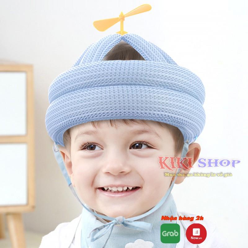 Mũ bảo hiểm cho bé 0-36 tháng tuổi, mũ, nón bảo vệ đầu cho bé, tập đi và tập ngồi, Kiki shop
