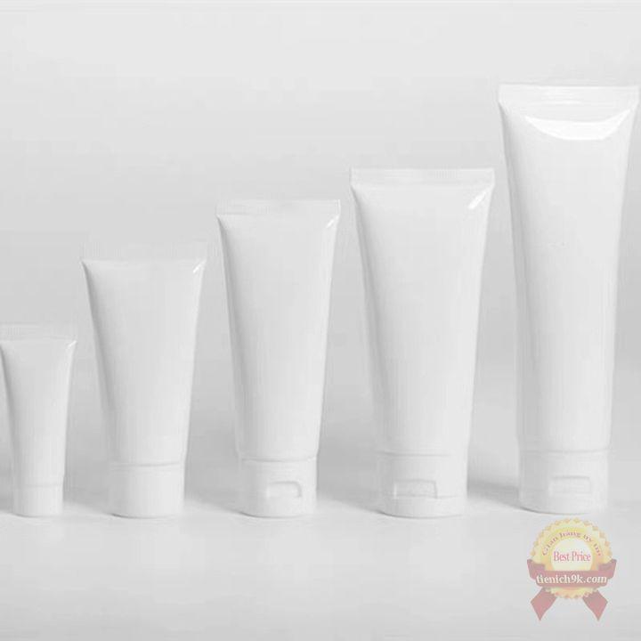 Lọ nhựa chiết mỹ phẩm dạng tuýp đựng kem dưỡng da dầu gội sữa rửa mặt màu Trong / Trắng nhựa PP cao cấp 50ml 100ml