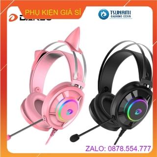 Tai nghe DAREU EH469 QUEEN RGB (Kèm CAT EARS)/ EH469 BLACK – Hàng chính hãng