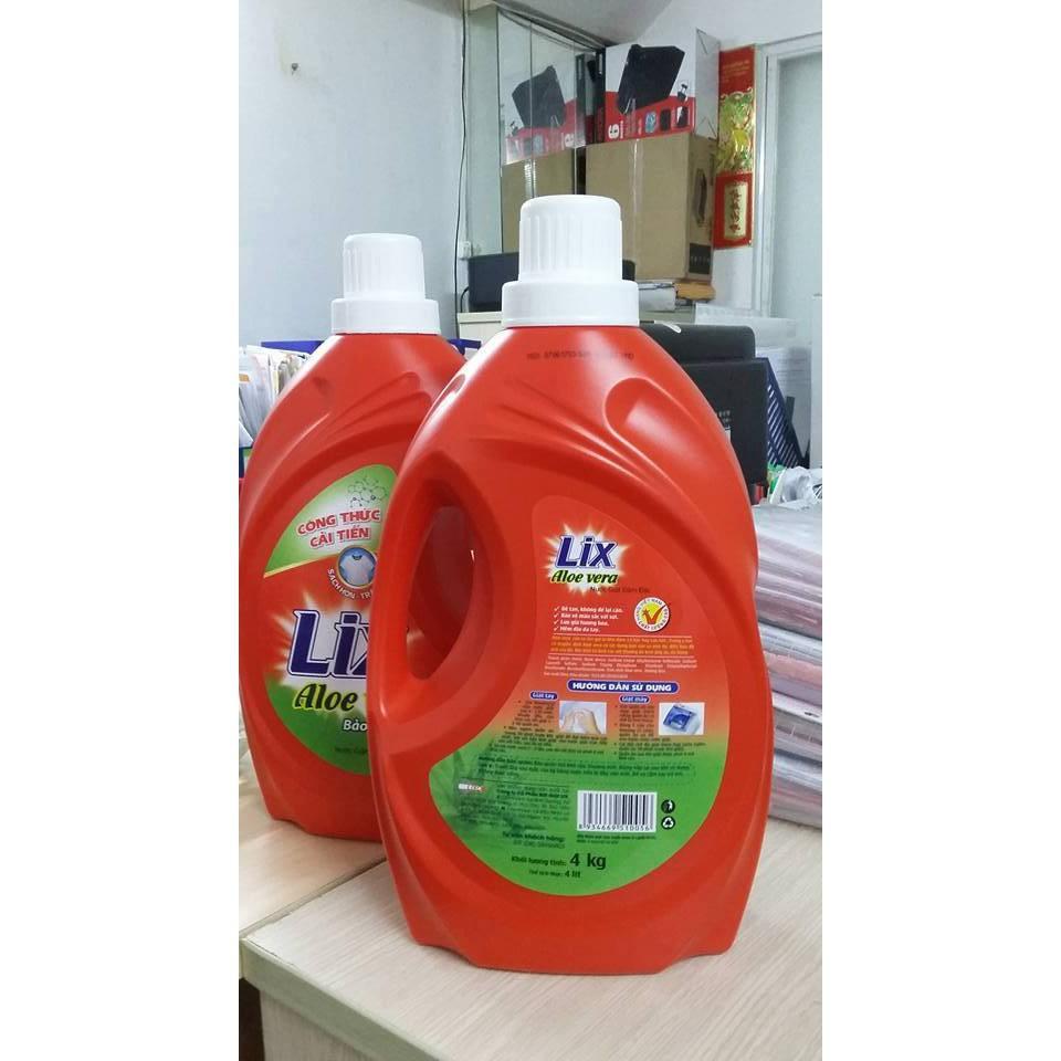 Combo Nước Giặt LIX Aloe Vera 4kg và Nước xả vải Lix hương Sớm Mai 3,8 Lít