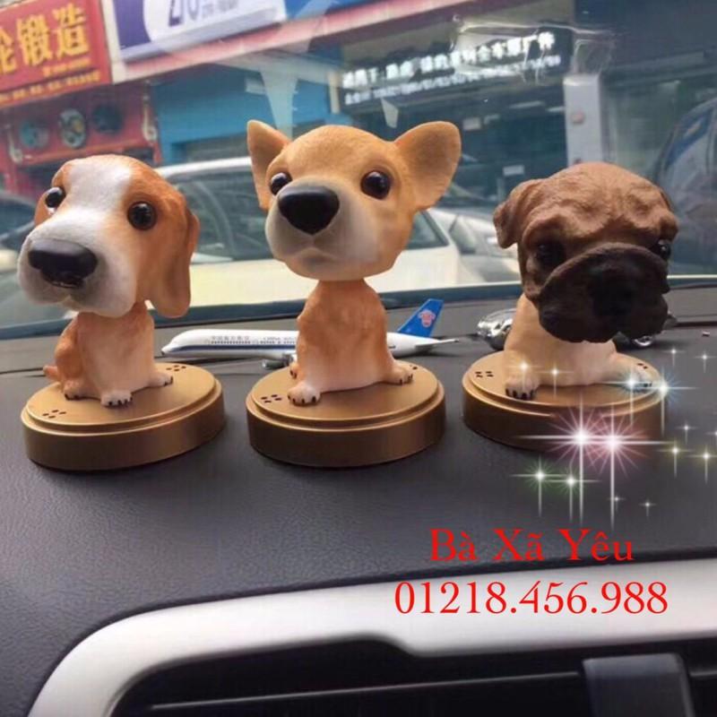 (Hàng Tốt - GIá Cao) Chú chó Swing trang trí xe hơi (12cm x 7cm)