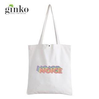 Túi Vải Tote GINKO Kiểu Basic Nút Bấm In Hình Noice G65