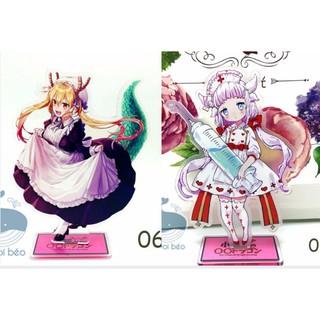 Mô hình Standee Acrylic Maid Dragon Hầu gái rồng Kobayashi-san Chi no Kanna Kamui Toru hàng chuẩn sắc nét