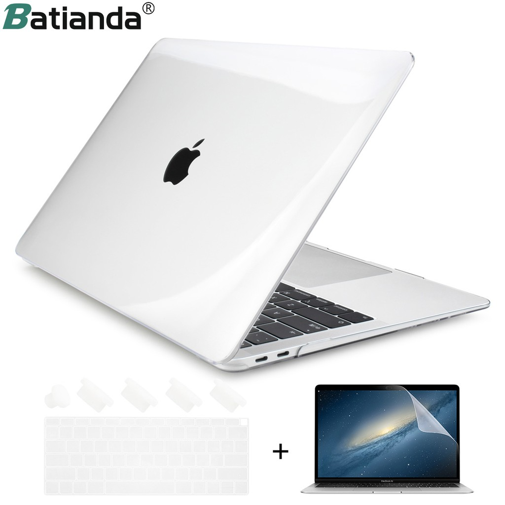 Ốp Batianda trong suốt cho Macbook Air 11 12 13 2019 2020 A2179 A1932 MacBook Pro 13 15 16 A2159 A2141