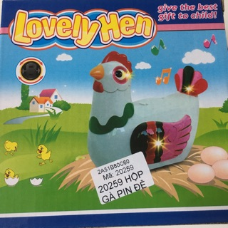 Đồ chơi trẻ em Lovely Hen Gà đẻ trứng sử dụng pin mã số(20259) phù hợp cho bé 3 tuổi 5 tuổi trở lên….