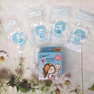 Hộp 50 Túi trữ sữa Sunmum mẫu mới 250ml