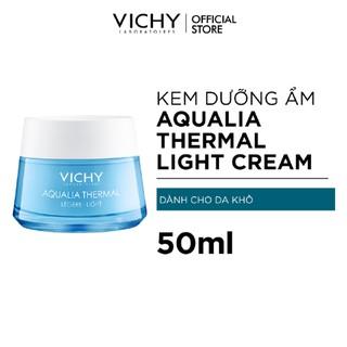 Kem dưỡng ẩm cung cấp nước cho da căng mịn ẩm mượt Vichy Aqualia Thermal Rehydrating Cream-Light 50ml