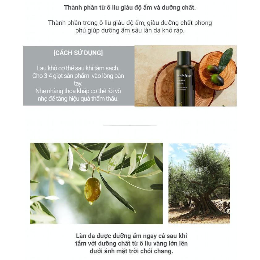 Tinh dầu dưỡng thể chiết xuất từ ô liu innisfree Olive Real Body Oil 150ml