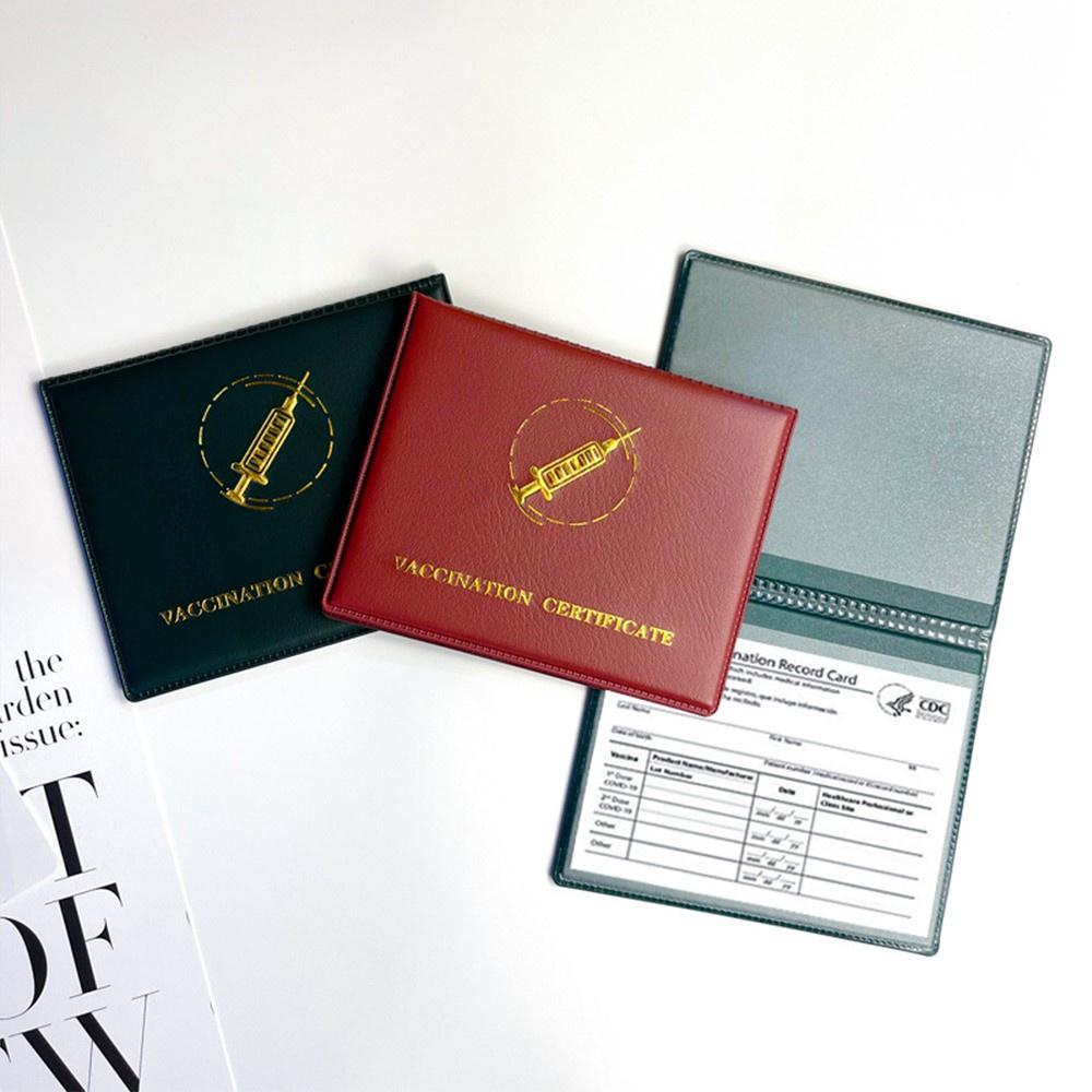 Túi Đựng Thẻ Bằng Da Pu Hai Mặt Chống Thấm Nước Kích Thước 4x3 Inch