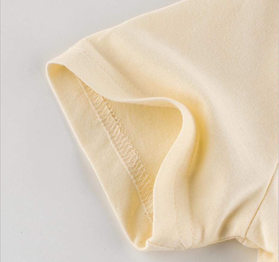 Áo Thun Tay Ngắn Cổ Tròn Chất Cotton Cho Bé Từ 1-9 Tuổi