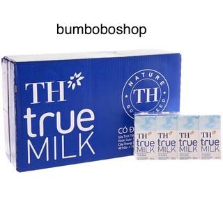 thùng sữa TH TRUE MILK có đường 180ml/hộp x 48
