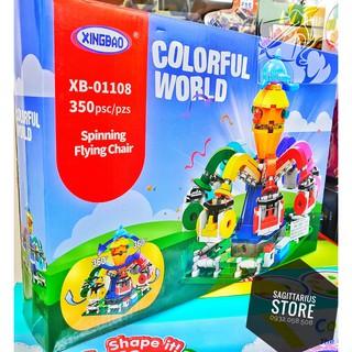 Lego XingBao-01108 Lắp Ráp Đu Quay Cảm Giác Mạnh Vòi Bạch Tuộc – Có Thể Xoay Vòng Tròn 360 độ ( 350 Mảnh )