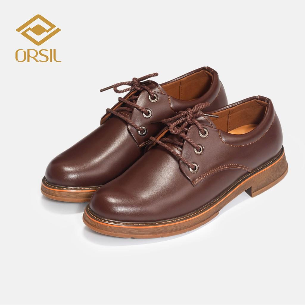 Giày đốc ORSIL103 da bò nam đế cao su cao cấp màu nâu, đen