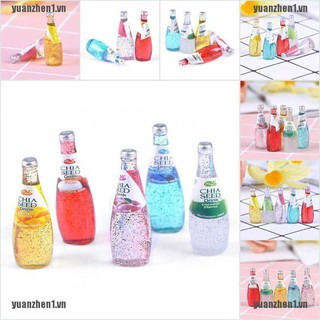 【YUANZHEN1】5Pcs 1/12 Miniature food mini fruit drink model for dollhouse kitch