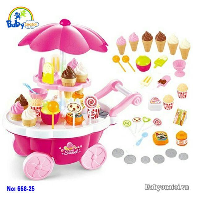 Đồ chơi bé gái,đồ chơi an toàn,Quầy bán kem và bánh ngọt di động