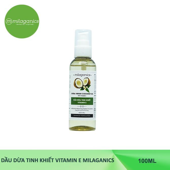 Dầu dừa Tinh Khiết Vitamin E MILAGANICS 100ml