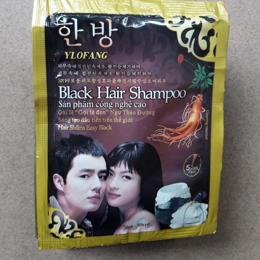 Gội đen tóc Black Hair Shampoo